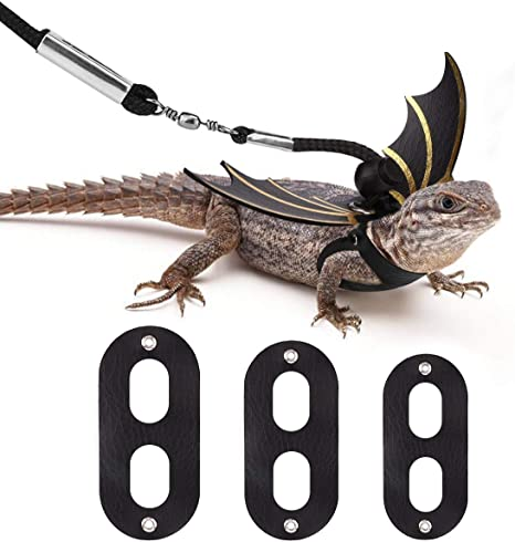 Adjustable Reptile Leash/™ Harness Great for Reptiles or Small Pets 100/% Adjustable One Size Fits Most