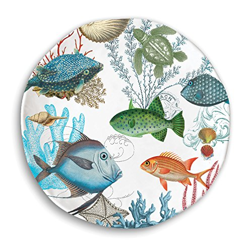 Michel Design Works Dinner Plate, Sea Life