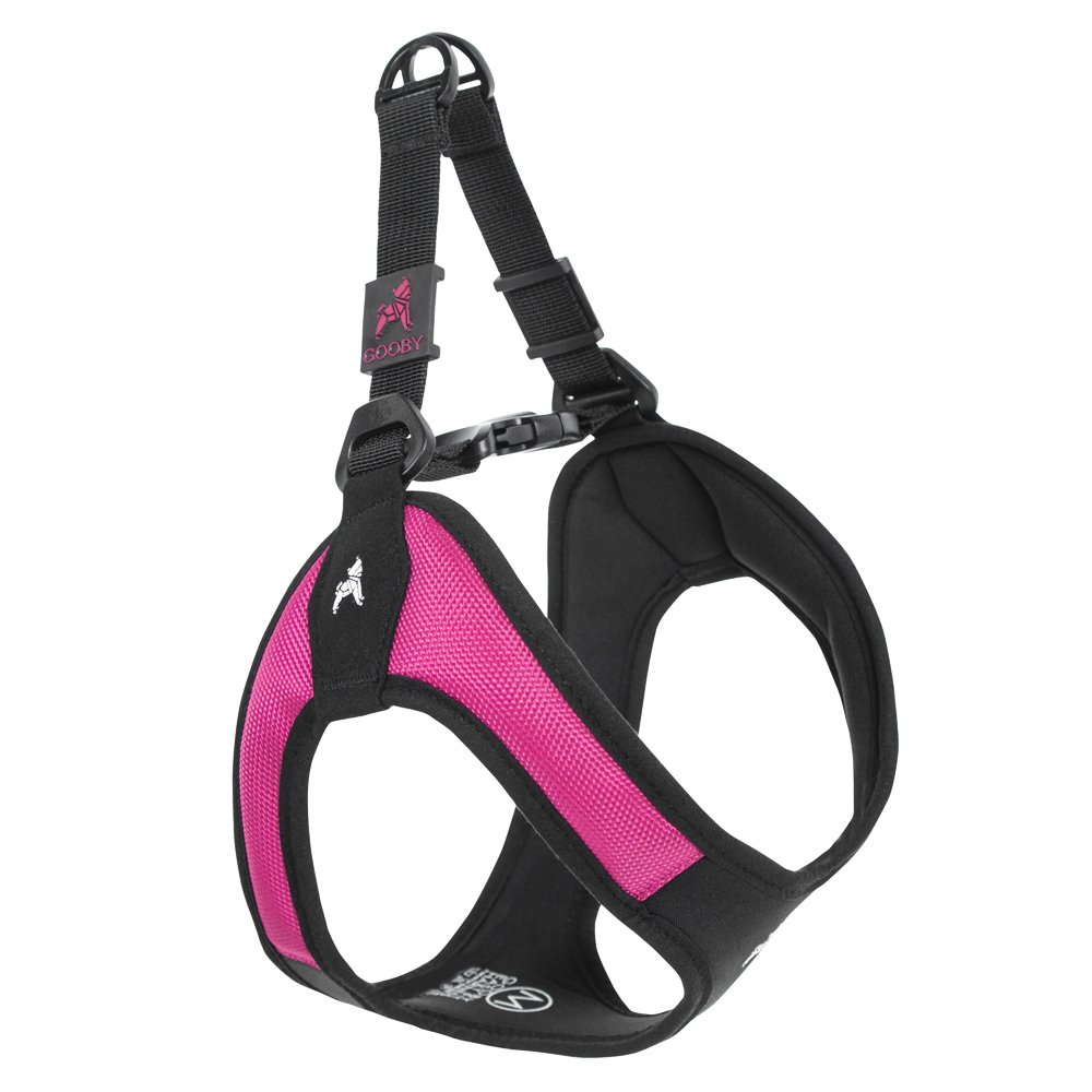 Gooby - Escape Free Easy Fit Harness, Small Dog Step-in Harness for Dogs That Like to Escape Their Harness, Hot Pink, Small
