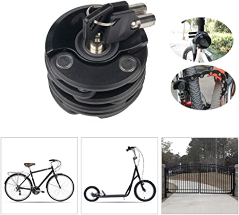 KuaiKeSport Candado de Bicicleta Plegable Alta Seguridad, Candado ...