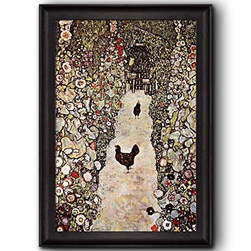 Garden Path with Chickens by Gustav Klimt Framed Art