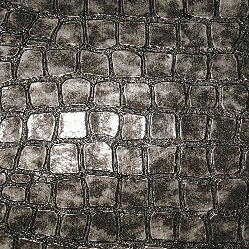 Regent - Crocodile Pattern Vinyl Upholstery Fabric by The Yard - Available in 4 Colors
