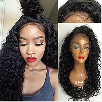 Lace Front HumanHair Wigs for Black Women Curly Hair Brazilian Virgin Hair Wigs Full Lace Human