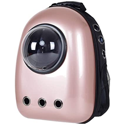 3ab7391e2ba Amazon.com : Costway Breathable Astronaut Capsule Pet Cat Puppy Travel Bag  Space Backpack Carrier Bag Pink Only by eight24hours : Pet Supplies
