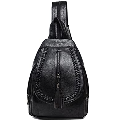 Amazon.com  Sling Backpack Leather Convertible Purse Small Shoulder Bag for  Women  Shoes b6e98c46a7754