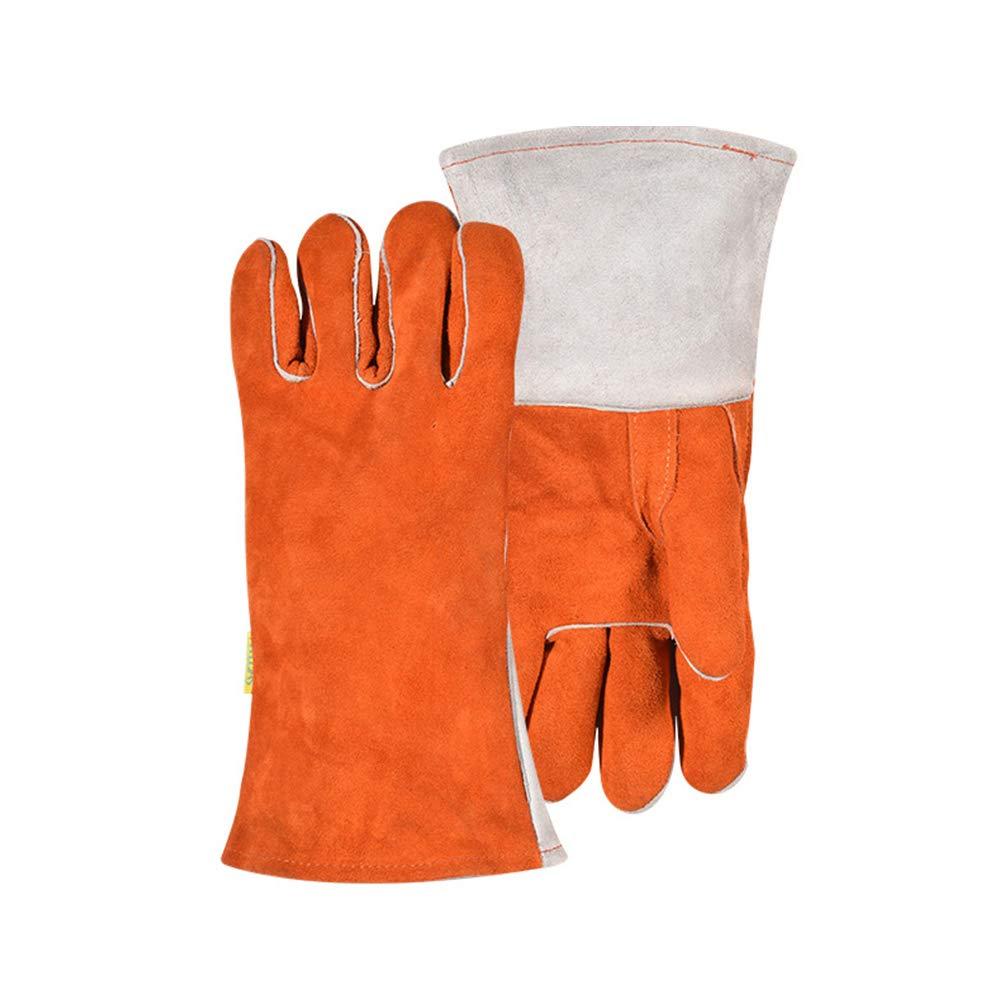 Full Finger Animal Handling Gloves, Veterinarian Zookeeper Wildlife Small Water Resistant Gardening Cowhide Leather Hand Glove