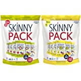 Skinny Pop 100 Calorie Bag 6-Pack 2 Flavor Variety Bundle: (1) Skinny Pop Plain, and (1) Skinny Pop White Cheddar, 3.9 Oz. Ea.