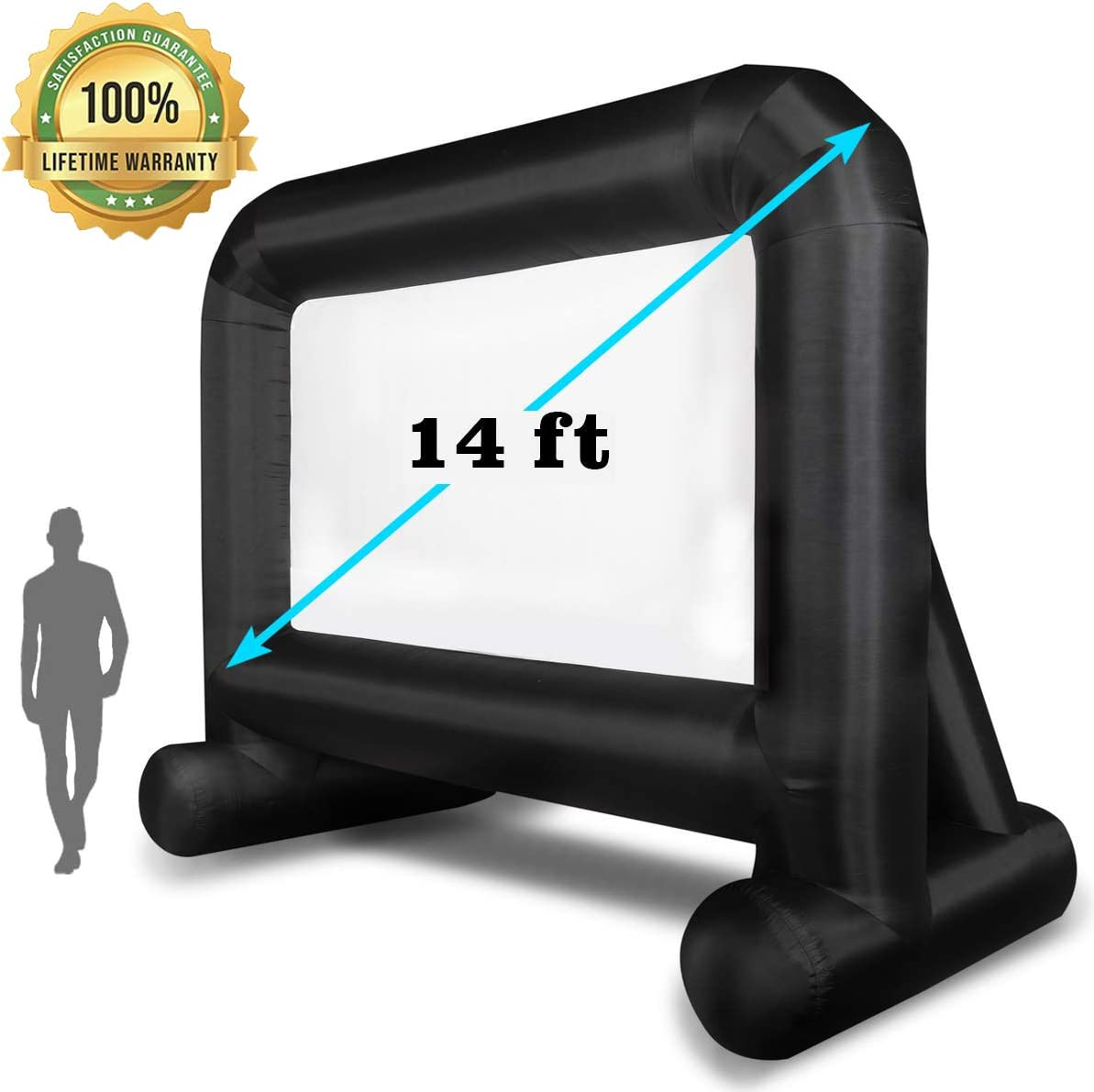 OUTTOY14 FT Inflatable Movie Screen Blow up Mega Movie Projection Outdoor Screen