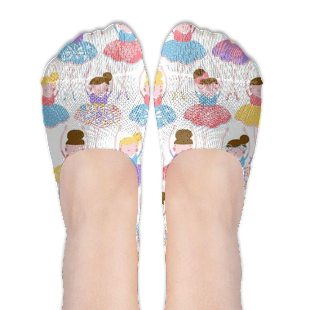 dfc05ab905156 Girls Ballet Dance Girl Liner Socks Novelty No-Show Socks at Amazon ...