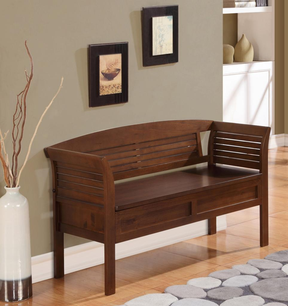 home seat wood entryway storage bench furniture rustic. Black Bedroom Furniture Sets. Home Design Ideas