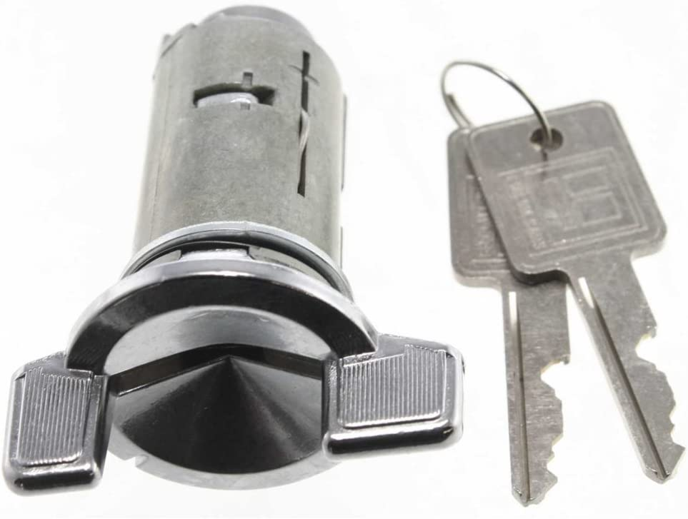 Ignition Lock Cylinder compatible with Chevrolet P30 82-99 W//Keys Used With Chrome Retainer Bolts