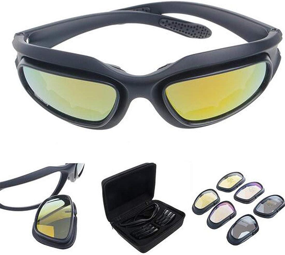 Polarizadas Lente Gafas Para El Sol de hípica con 4 lente de conducción para Motocicleta Bicicleta Actividad al aire libre Deportes Caza Militar