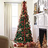 Brylanehome 71/2' Deluxe Pop-Up Christmas Tree (Plaid,0)