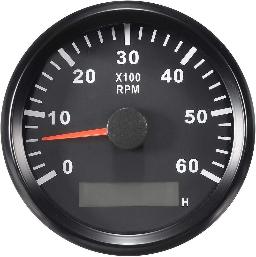 Eling Tachometer Drehzahlmesser Mit Stundenanzeige Für Auto Lkw Boot Yacht 0 6000 U Min 85 Mm Mit Hintergrundbeleuchtung Auto