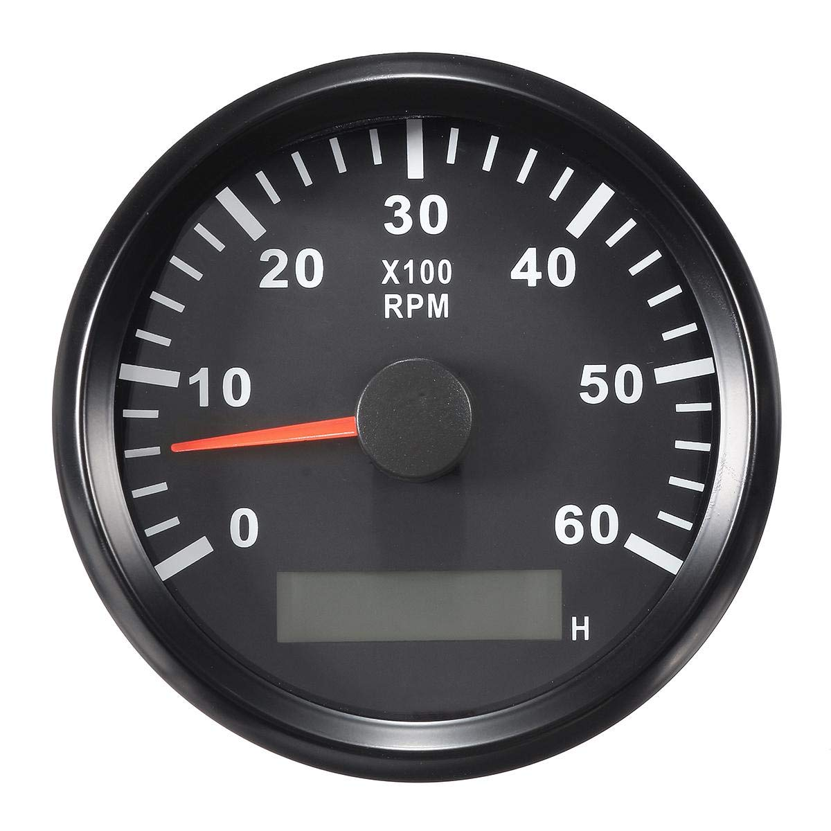 ELING Tachometer RPM Tacho Gauge with Hour Meter for Car Truck Boat Yacht 0-6000RPM 85mm with Backlight by ELING