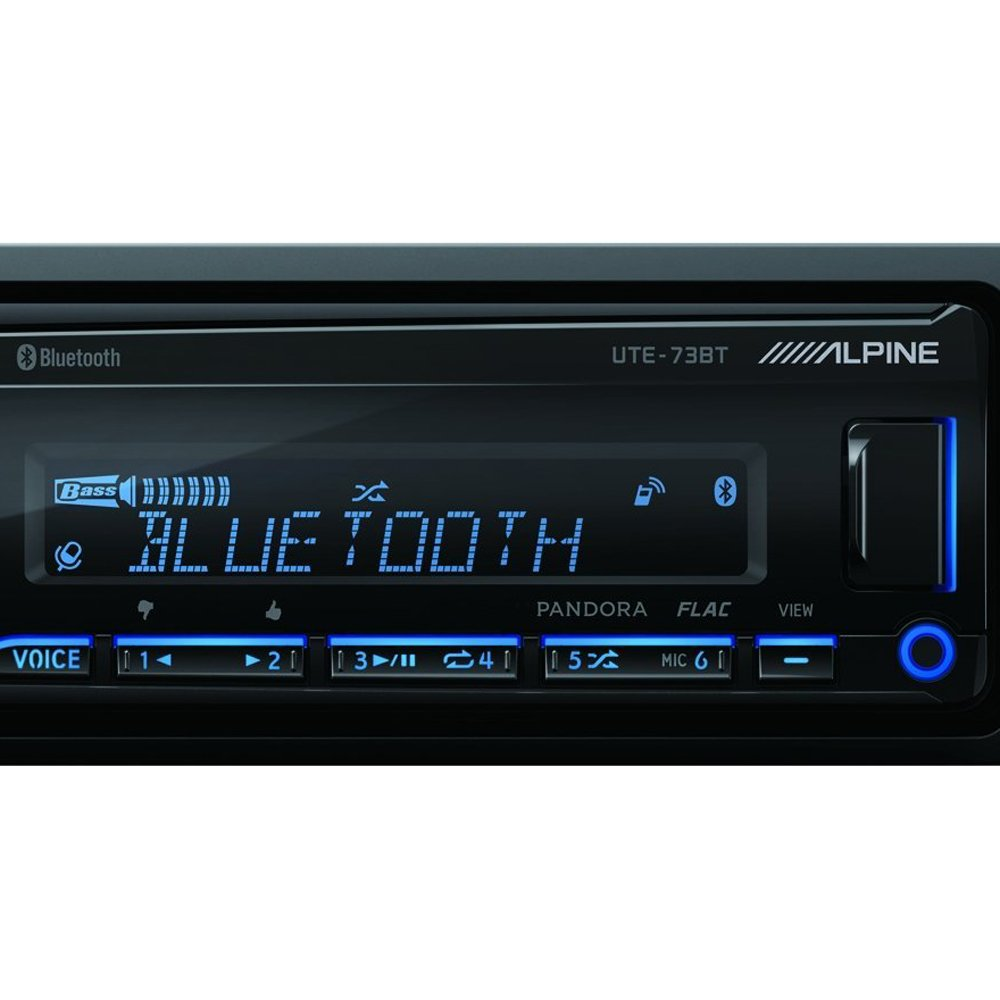 Alpine UTE-73BT Mech-less Digital Media Receiver with Bluetooth/® Wireless Technology