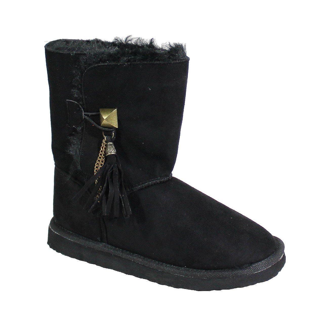 By Shoes Bottine Fourrée Style By Daim Shoes 10749 - Femme - SS - S46 Black 9e9d065 - boatplans.space