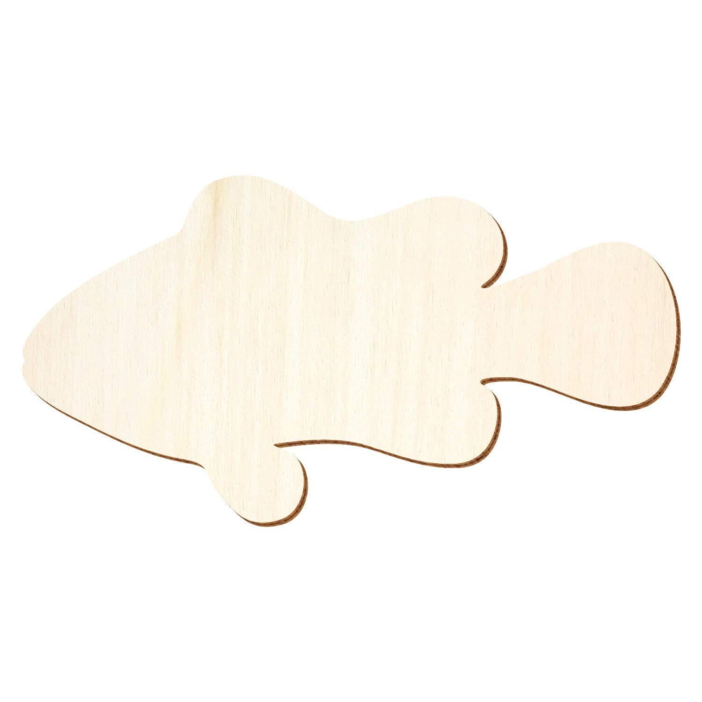 Holz Clownfisch - 3-50cm Breite - Basteln Deko, Deko, Deko, Pack mit 10 Stück, Größe 31cm B07PVK9VDM | Zuverlässige Qualität  6d7cf3