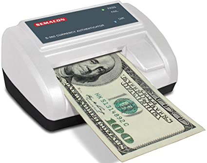 Semacon S-960 Cordless Automatic Currency Authenticator/Counterfeit  Detector, All USD Banknotes Currency Types, Processing Speed Less Than 0 75