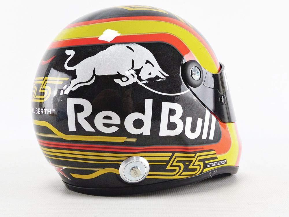 Negro y Blanco SAINZ2018 Coche en Miniatura de colecci/ón Rojo Amarillo Mini Helmet