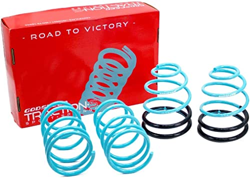 Reduce Body Roll Improved Handling Set of 4 Godspeed LS-TS-DE-0003-B Traction-S Performance Lowering Springs