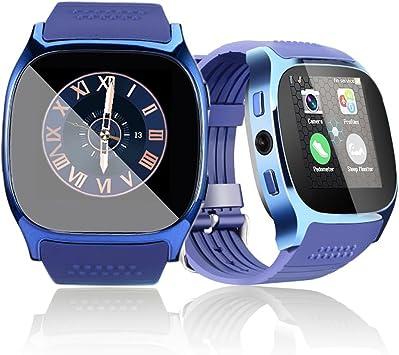 1.54 Bluetooth Smart Watch Reloj Inteligente Teléfono Inteligente Pantalla Táctil con ranura para tarjeta SIM /sedentario Recordatorio/Pedómetro Android 4.0 + Smartphone (azul): Amazon.es: Electrónica