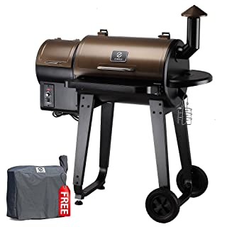 Z GRILLS ZPG-450A 7 in 1 Bbq Grill Auto Temperature Control, 450 sq inch Cooking Area, Bronze And Black