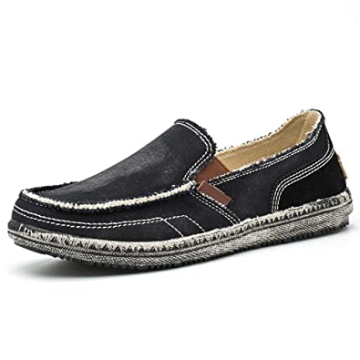 d9adf05fa99 BEFAiR Slip on Mens Canvas Shoes Vintage Boat Shoes Casual Loafers ...