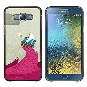 Stuss Case / Funda Carcasa protectora - Cartoon Vela Lluvia Capitán lindo - Samsung Galaxy E7 E700