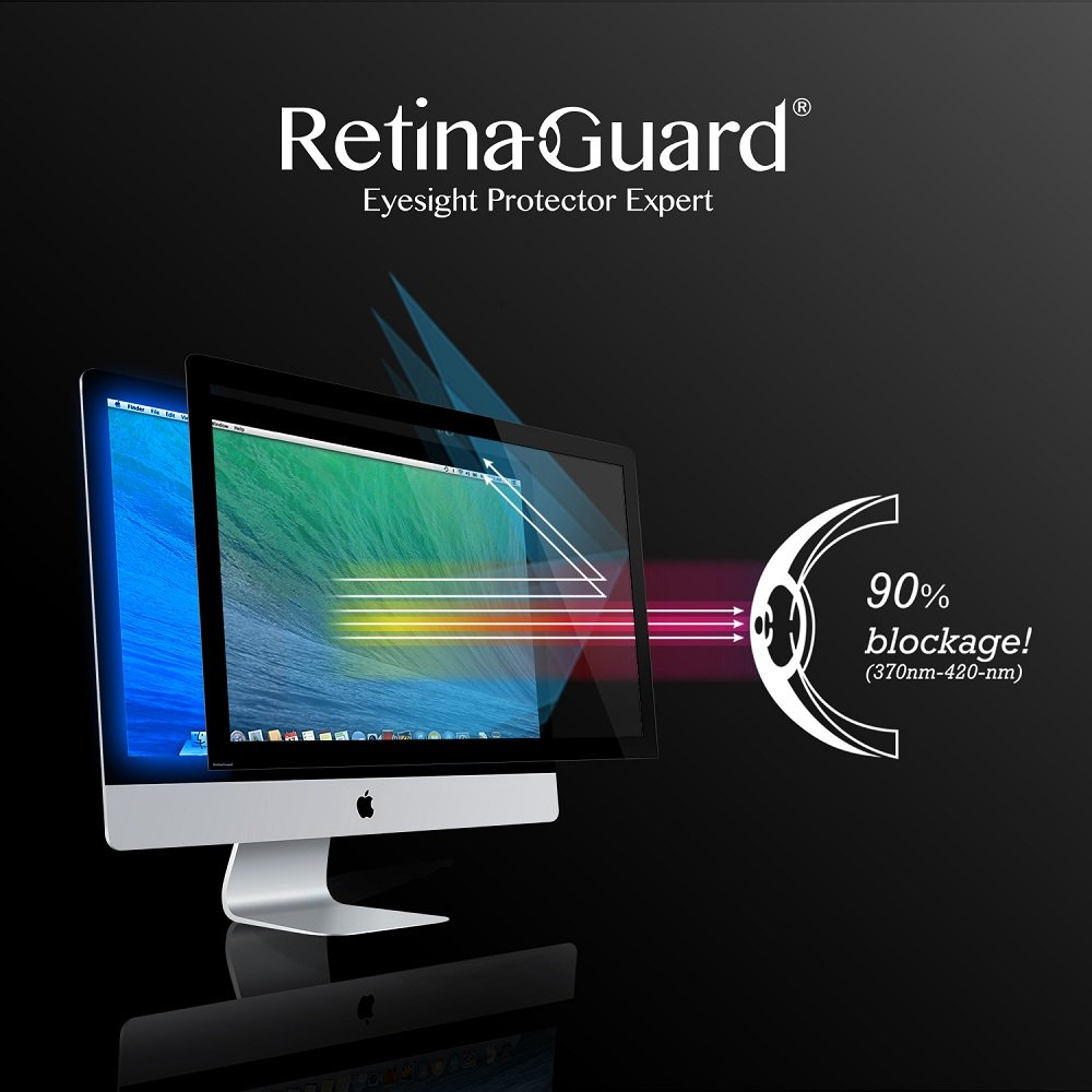 RetinaGuard Anti-Blue Light Screen Protector for iMac21.5 - SGS & Intertek Tested - Blocks Excessive Harmful Blue Light, Reduce Eye Fatigue and Eye Strain