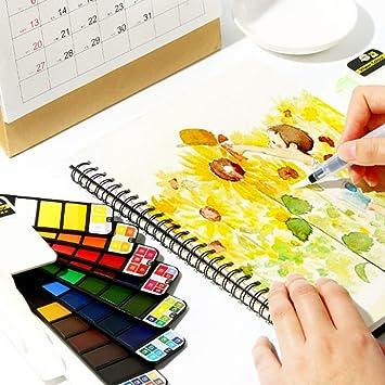 Amazoncojp Firlar 固形水彩 絵の具 水彩塗料 顔料 写生 塗り絵