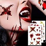 Geekper Halloween Makeup Party Bloody Scar Tattoo