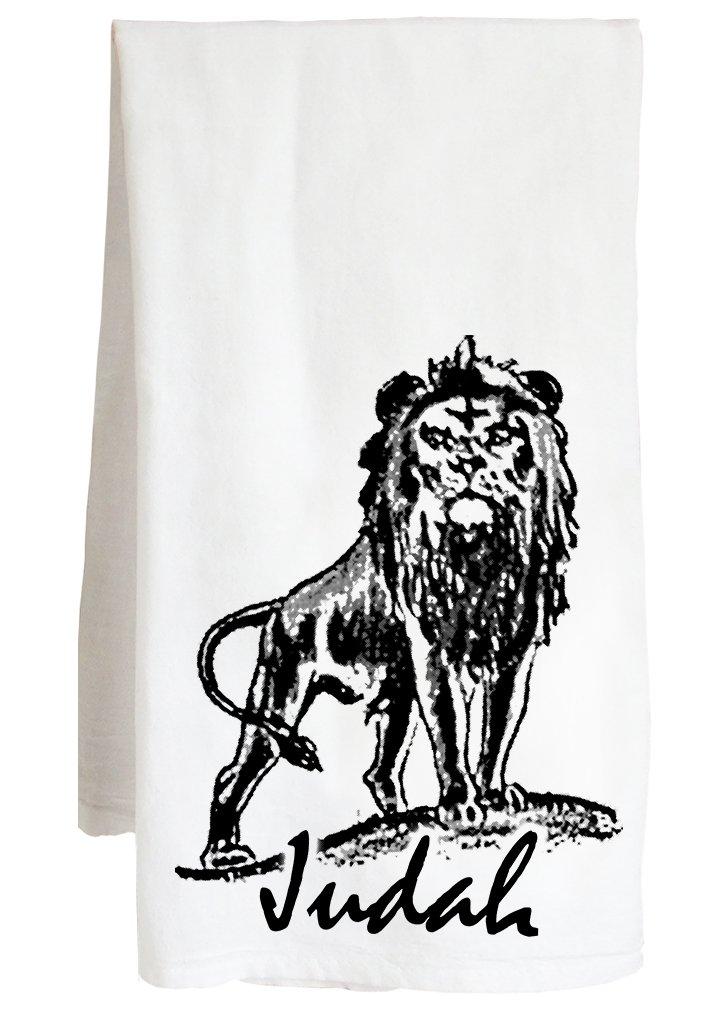 Live Nice LION OF JUDAH - jesus christ christian lord - Farm Flour Sack Kitchen Tea Towel