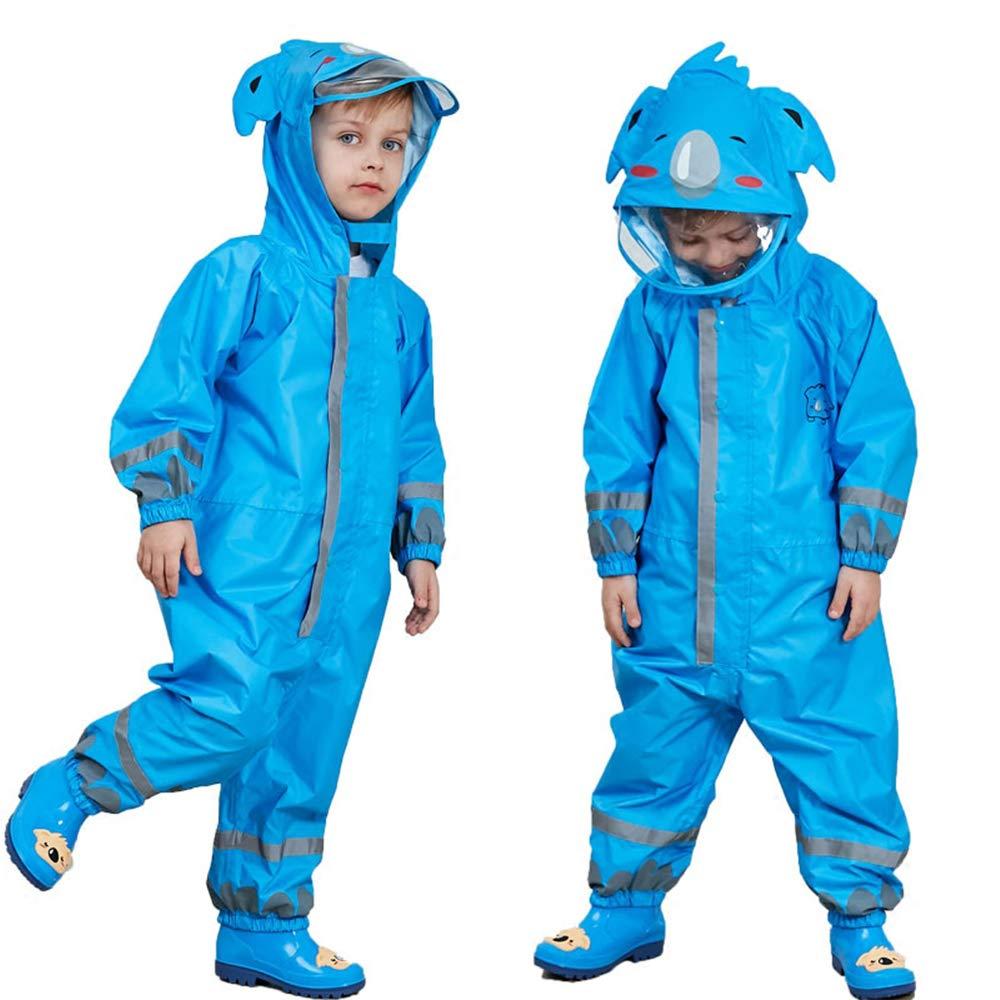 SSAWcasa One Piece Rain Suit Kids, Unisex Toddler Waterproof Rainsuit Rain Coat Coverall