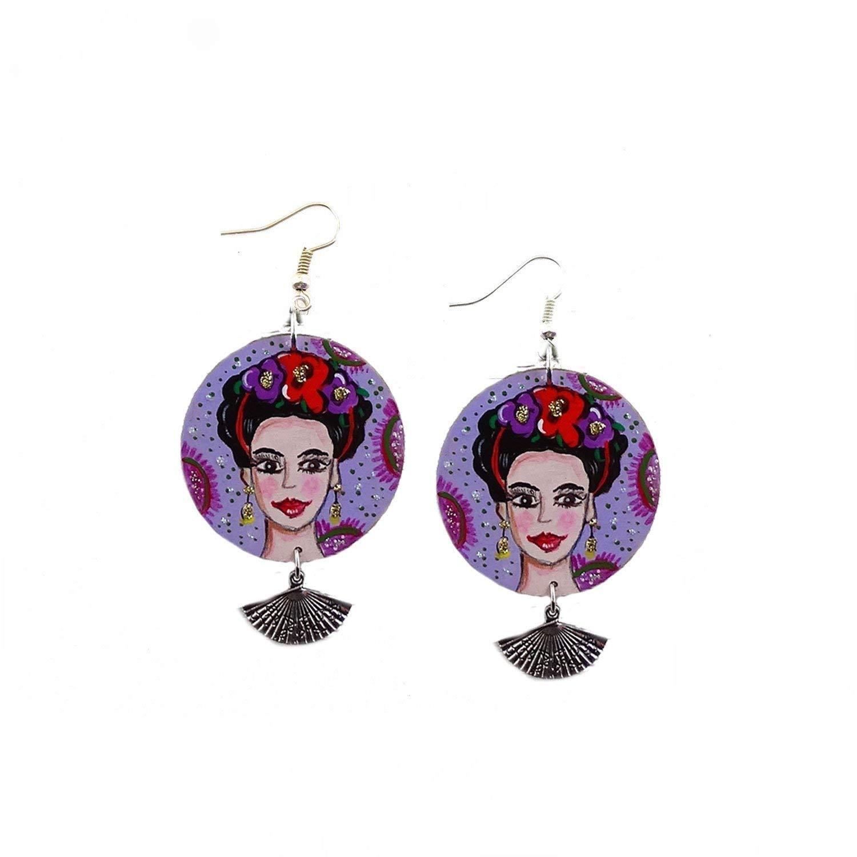 metà prezzo grande vendita prevalente Orecchini dipinti a mano - Mi Amor! Frida Kahlo Orecchini ...
