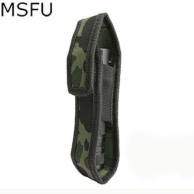 Generic Msfu en nylon rigide lumière lampe de poche Holster support pour téléphone jusqu'à 165mm de long Housse de transport–Camouflage