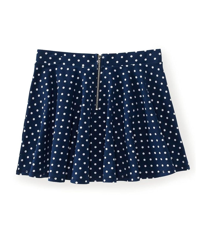 Aeropostale Womens Polka Dot Above Knee Flared Skirt