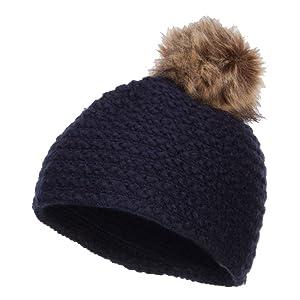 Beanie Hat with Pom Pom - Navy OSFM