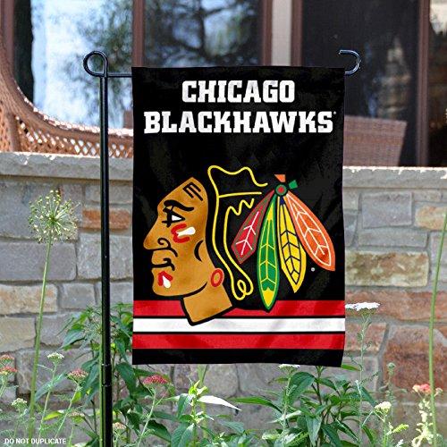 WinCraft Chicago Blackhawks Black Double Sided Garden Flag