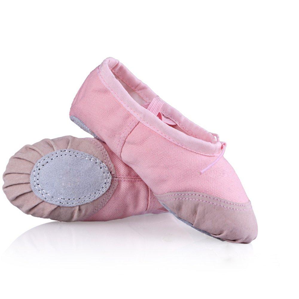 WinCret Zapatillas de Ballet para Niña - Alta Calidad Transpirable Niños Zapatos de Ballet - Profesional Bailarinas Zapatillas Media Punta de Ballet