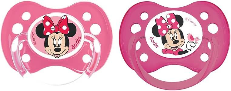 Dodie - Lote de 2 chupetes, anatómicos, A64, más de 6 meses, diseño de Minnie Mouse: Amazon.es: Bebé