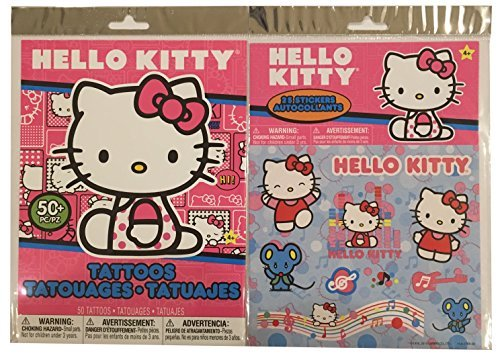 Hello Kitty Stickers & Temporary Tattoos Pack