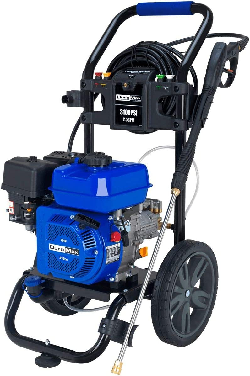 Duromax XP3100PWT 2.5 GPM Gas Powered Cold Water Power Pressure Washer