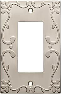 Franklin Brass W35072-SN-C Classic Lace Single Decorator Wall Plate/Switch Plate/Cover, Satin Nickel
