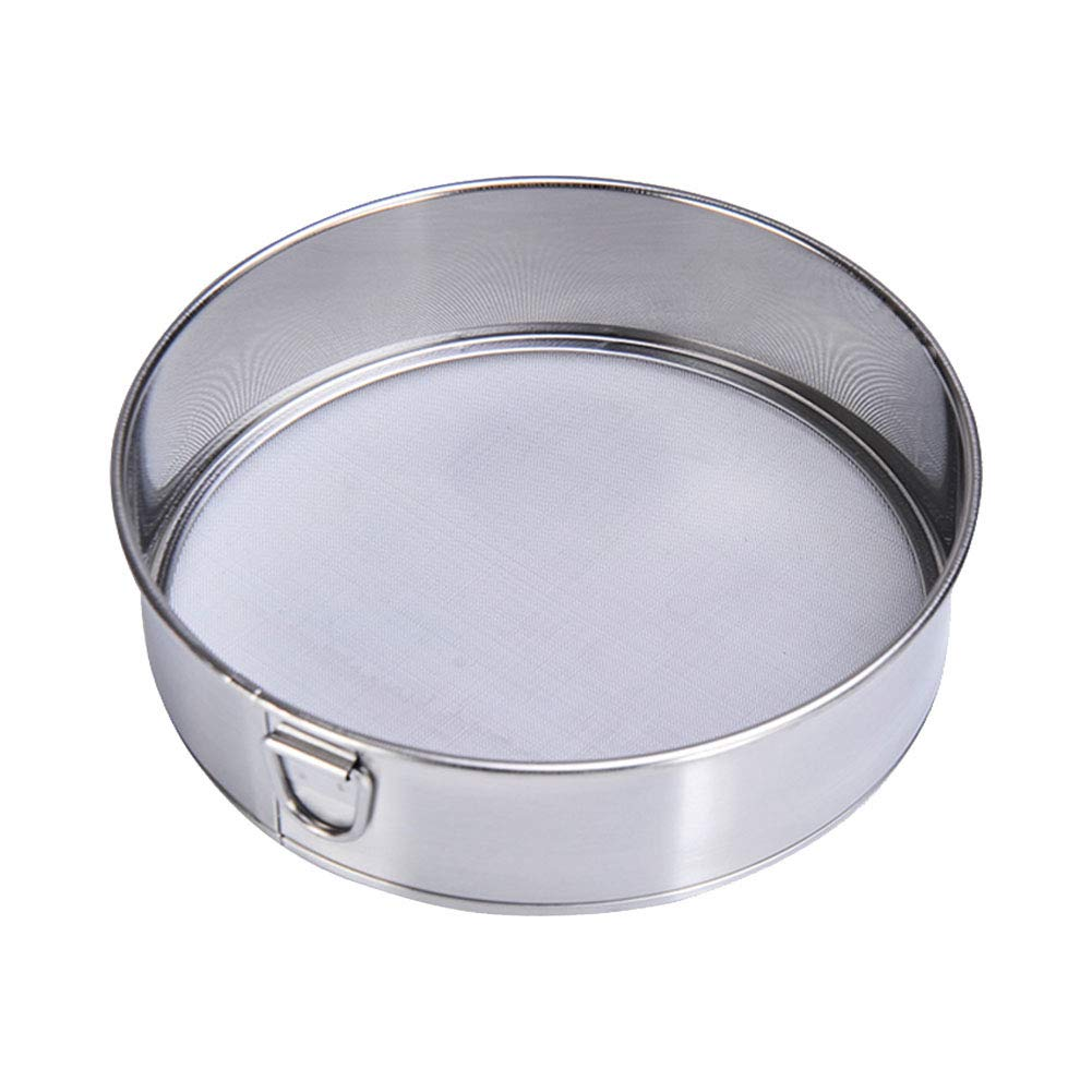 Fine Mesh Flour Sifter 60 Mesh Stainless Steel Wire Sieve for Kitchen Baking and Cooking (Size:6 Inch) chu-rui SK-888