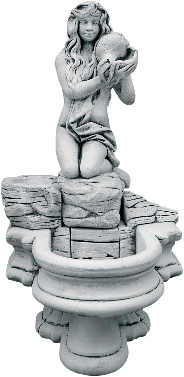 CATART Fuente de jardín Pared en hormigón-Piedra con Bomba de Agua niña Caracola 62X120cm.: Amazon.es: Jardín