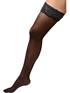 31324577b6e Womens Plus Size Hosiery Black Sheer Lace Top Stay Up Silicone Thigh High  Stockings