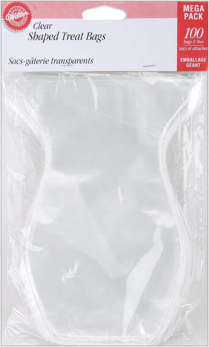 Wilton Shaped Treat Bags 4-1/2x7-1/4 100/Pkg-Clear
