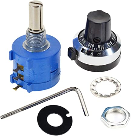 10K Ohm 10 Turn Adjustable Potentiometer Counting Dial Rotary Knob Kit UK