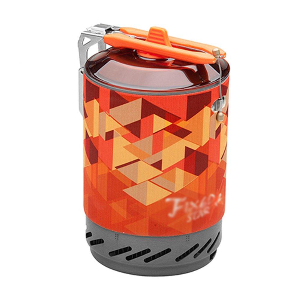 JIBO Tragbar Draussen Brenner Für 2 Personen Ein Sammeln von Wärme mit Topf Bergsteigen Camping Propan Gasherd (Ohne Gasflaschen)